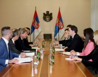 Minister Selakovic Meets with the EU Commissioner Johannes Hahn