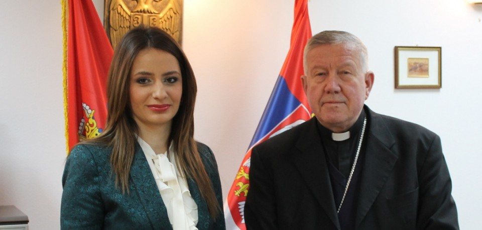 Minister Kuburović meets with the Archbishop of Belgrade